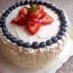 Swiss Meringue Buttercream Ruffle Cake