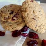 Gluten Free Oatmeal & Flax Cranberry Cookies