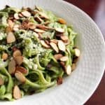 Linguine with Avocado & Arugula Pesto