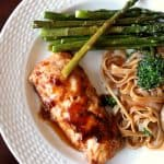 Hoisin Glazed Fish & Rice Noodles