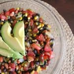 Tex-Mex Three Bean Salad with Grilled Corn & Avocado