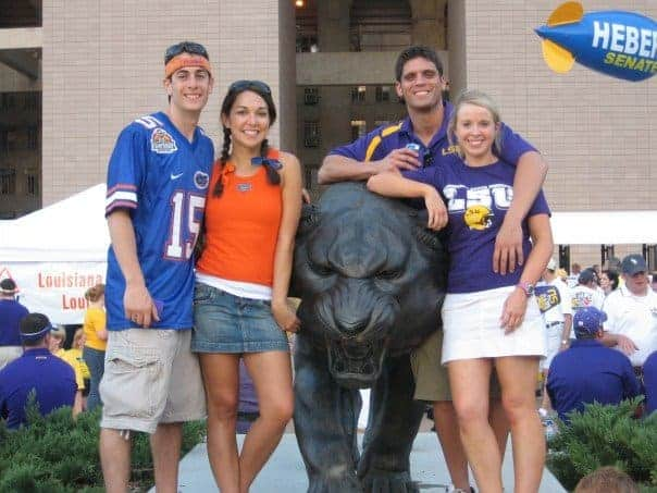 attending an LSU game with friends