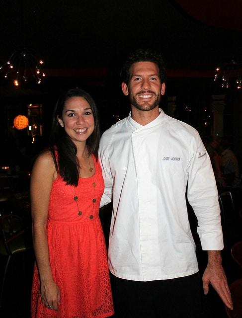 Chef Josef Morera at Echo Restaurant in Palm Beach, Florida.