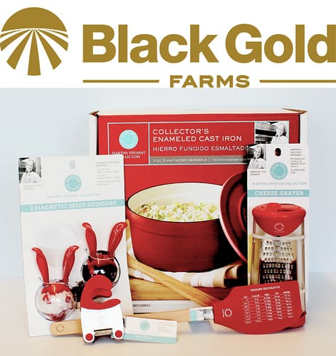 Win a Martha Stewart Collection Kitchen Prize Package all donated by Black Gold Farms. Just ONE of the fabulous prize sets in our #BrunchWeek 2013 giveaway.