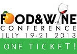 Win a ticket to the upcoming Food and Wine Conference in Orlando donated by The Food and Wine Conference and #SundaySupper. Just ONE of the fabulous prize sets in our #BrunchWeek 2013 giveaway.