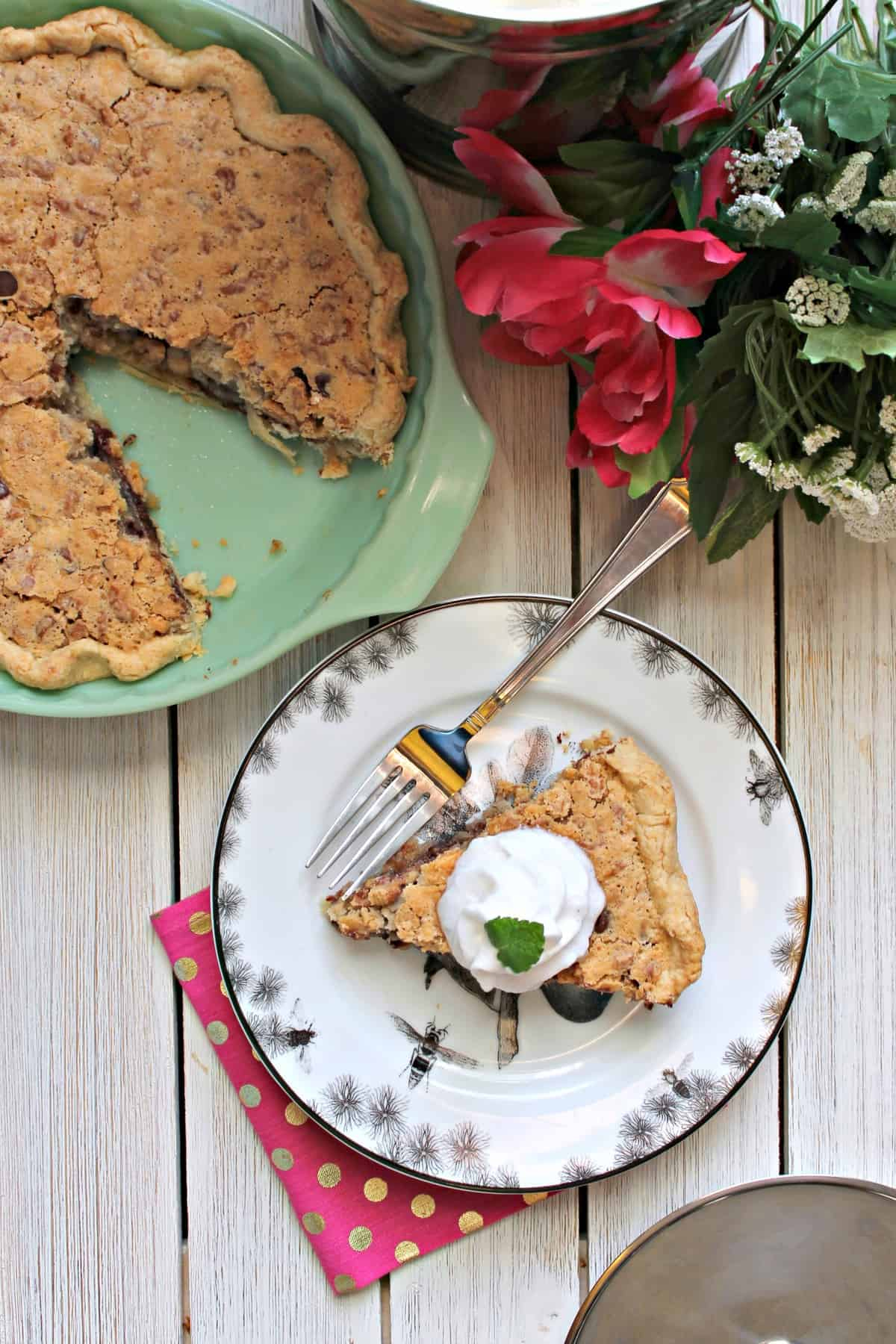 Race Day Pie! This Kentucky Derby pie recipe is one you should bet on: A rich, bourbon-infused chocolate and walnut filling bakes inside a pastry dough shell, creating a cookie-like confection that's trophy-worthy!