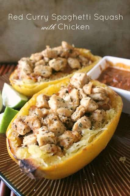 Coming Clean: Red Curry Spaghetti Squash with Chicken - The Kitchen ...