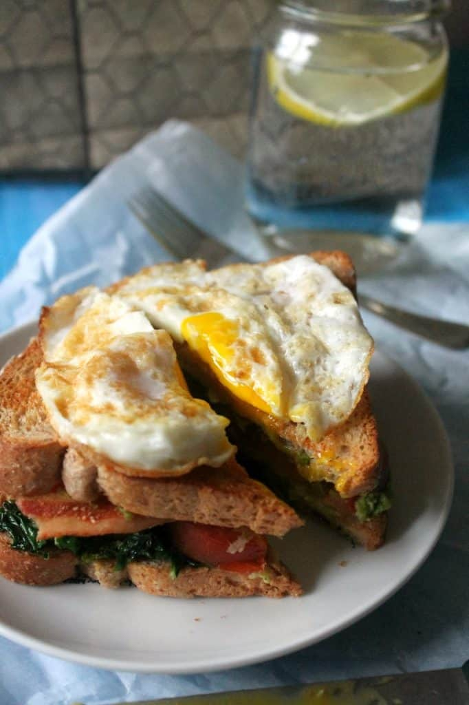 this BKTA sandwich is topped with a fried egg for the ultimate brunch sandwich