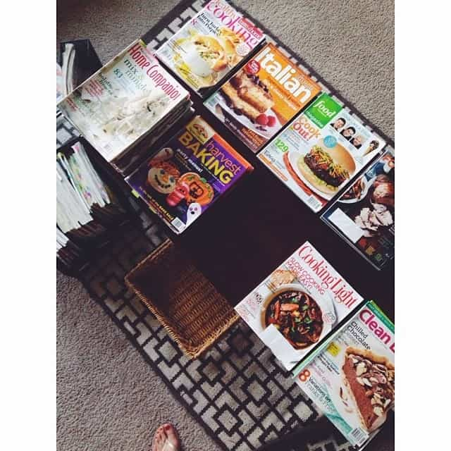 Organizing my vast collection of cookbooks and magazines