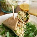 Honey-Dijon Chicken Quinoa Wraps with Apple Slaw