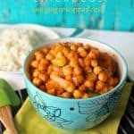 Coconut Red Curry Chickpeas with Ginger-Scented Rice