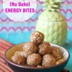 {No Bake} Tropical Energy Bites