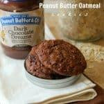 {Flourless} Double Dark Chocolate Peanut Butter Oatmeal Cookies