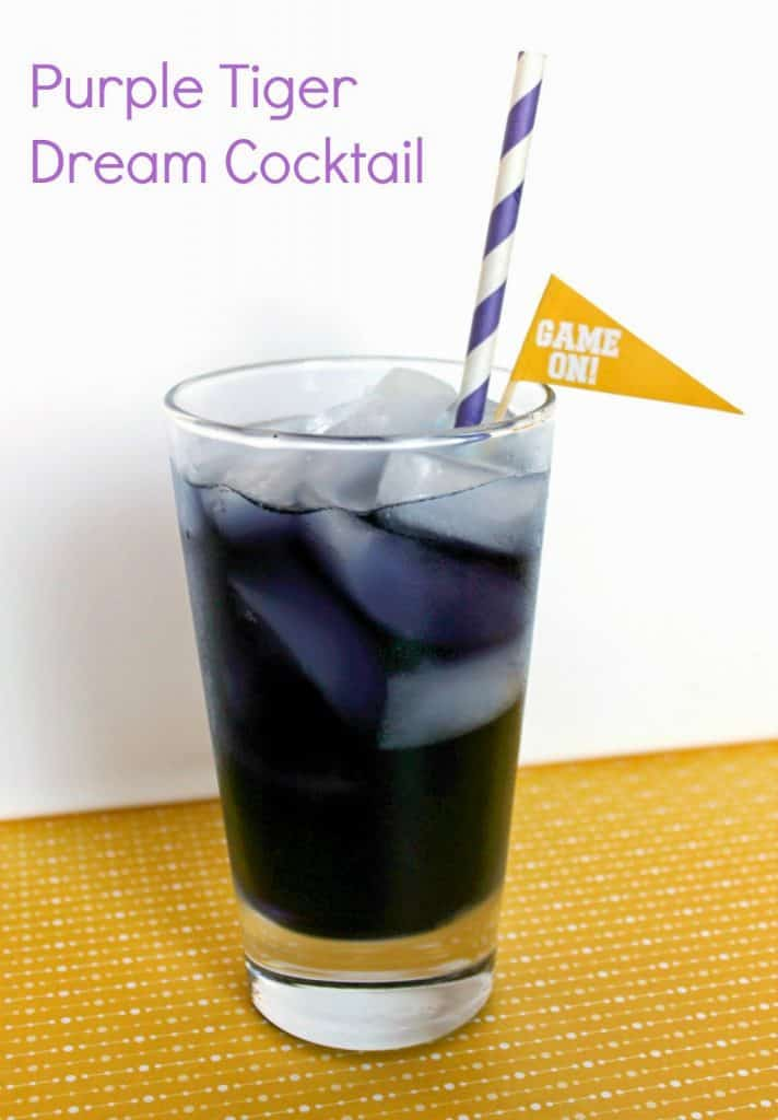 Louisiana State University inspired Purple Tiger Dream cocktail is sweet and refreshing, an easy game day cocktail that you can enjoy on Football Sunday