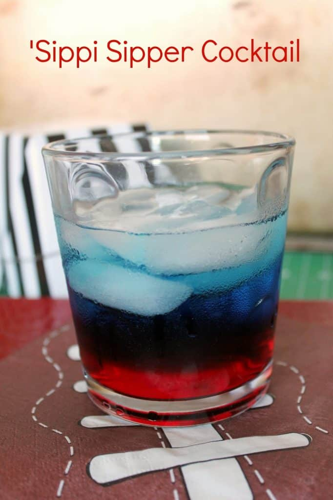 This University of Mississippi inspired cocktail is a red, white, and blue fruity vision