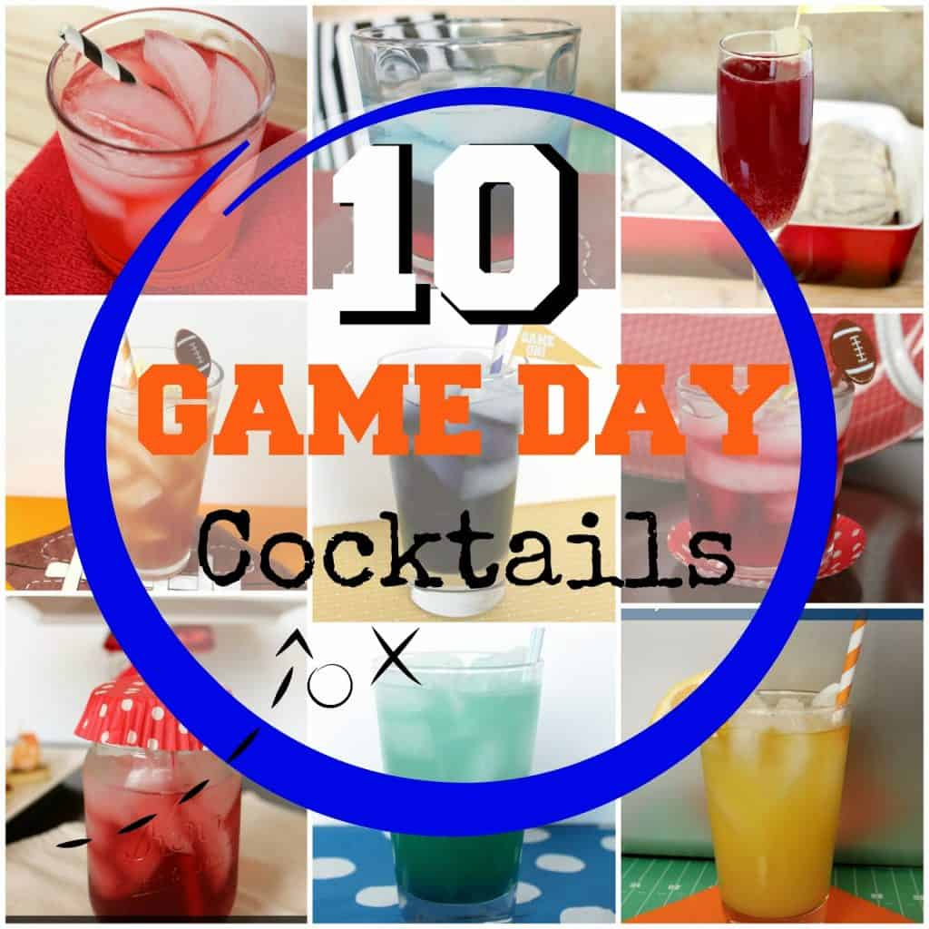 These ten delicious game day cocktail recipes are easy to whip together for game day