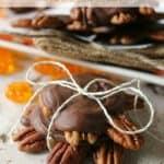 "Copycat ""Pumpkin Paws"": Pumpkin Caramel, Pecan & Milk Chocolate Clusters"