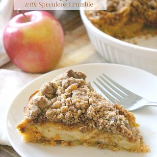 Pumpkin Dutch Apple Pie with Speculoos Crumble