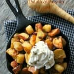 Crispy Potato & Parsnip Hash with Stonyfield Yogurt + DreamFarm