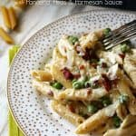 Barilla® Penne with Pancetta, Peas and Parmesan Sauce