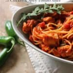 Barilla® Spaghetti with Chicken & Spicy Tomato Sauce