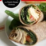 Grilled Tyson® Chicken Wraps with Peach-Ginger Chutney