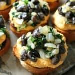 Orca Bean, Kale & Pumpkin Crostini | Bob's Red Mill + Stonyfield Organic