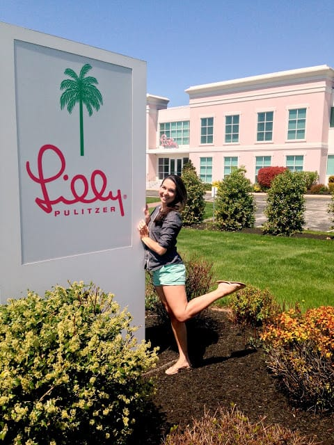 I managed to get a tour of the Lilly Pulitzer headquarters