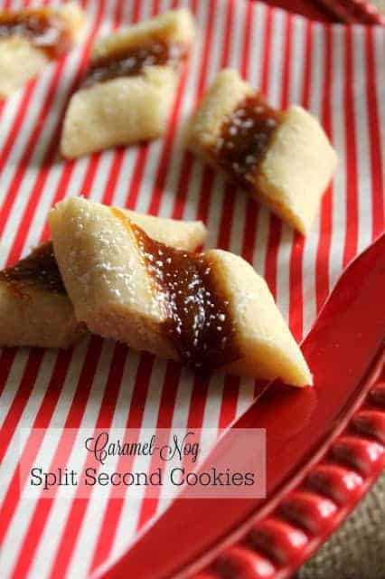 Caramel-Nog Split Second Cookies | Silk Holiday Nogs - The Kitchen ...