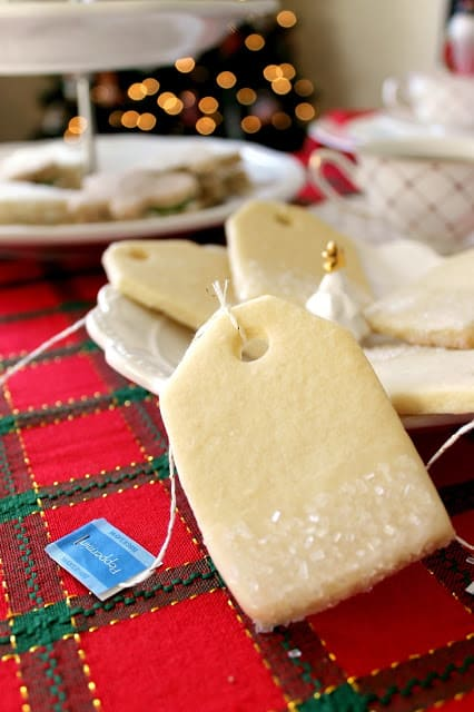 A simple sugar cookie recipe infused with light peppermint tea for a fresh hint of mint