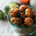Sriracha-Honey Glazed Broccoli Meatballs