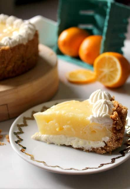 Meyer Lemon + Yogurt Cream Pie - The Kitchen Prep Blog