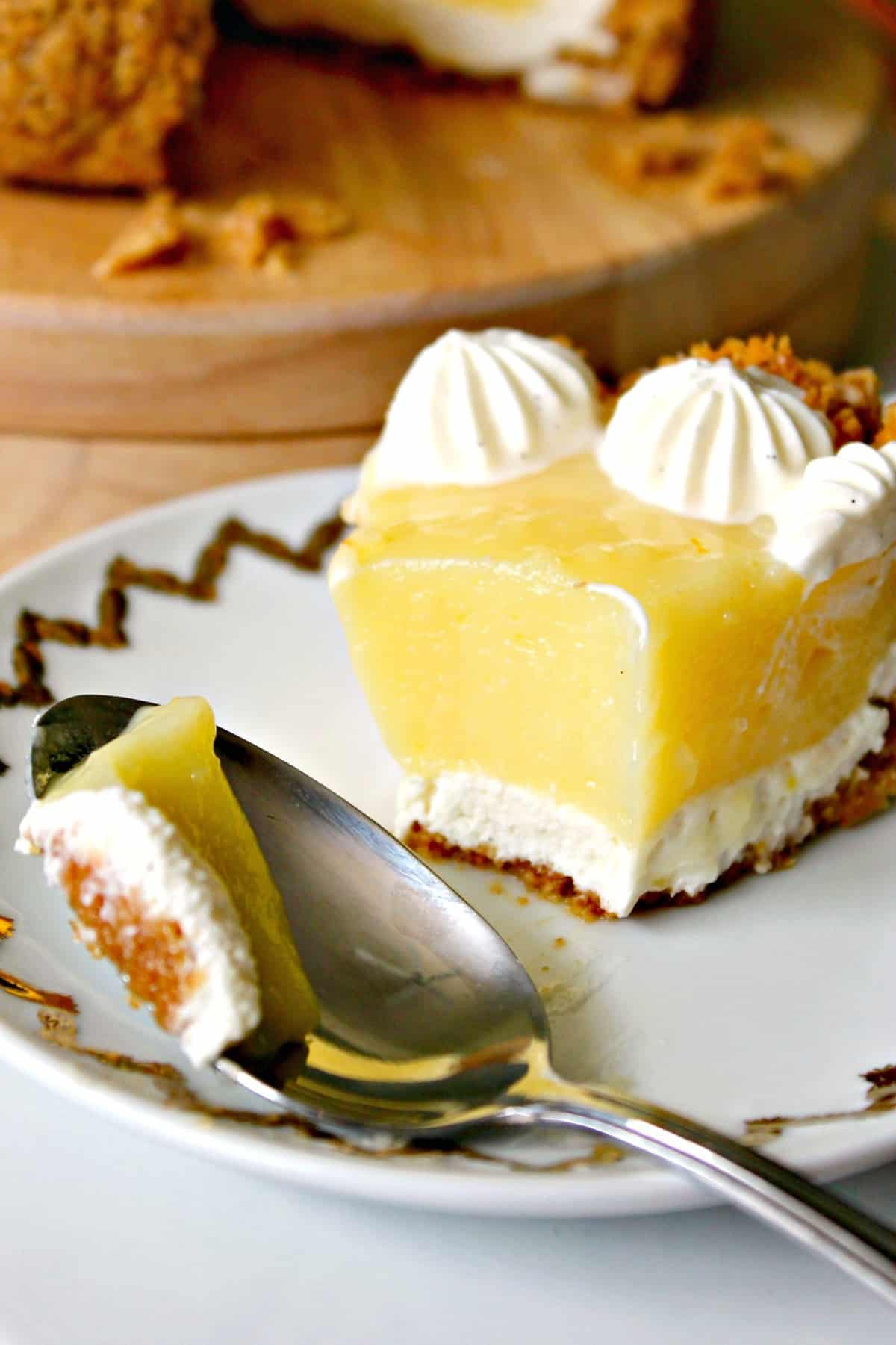 Meyer Lemon & Yogurt Cream Pie! If you're looking for Meyer Lemon recipes, look no further! This luscious pie is the perfect place to let those sweet-tart Meyer lemons shine. A smooth yogurt cream base and topping balances the flavors wonderfully.