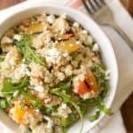 Grilled Peach & Arugula Quinoa Salad