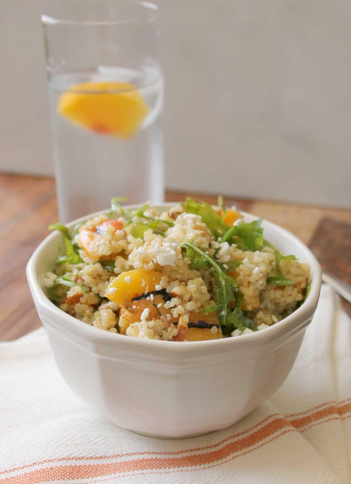 Grilled Peach Quinoa Salad