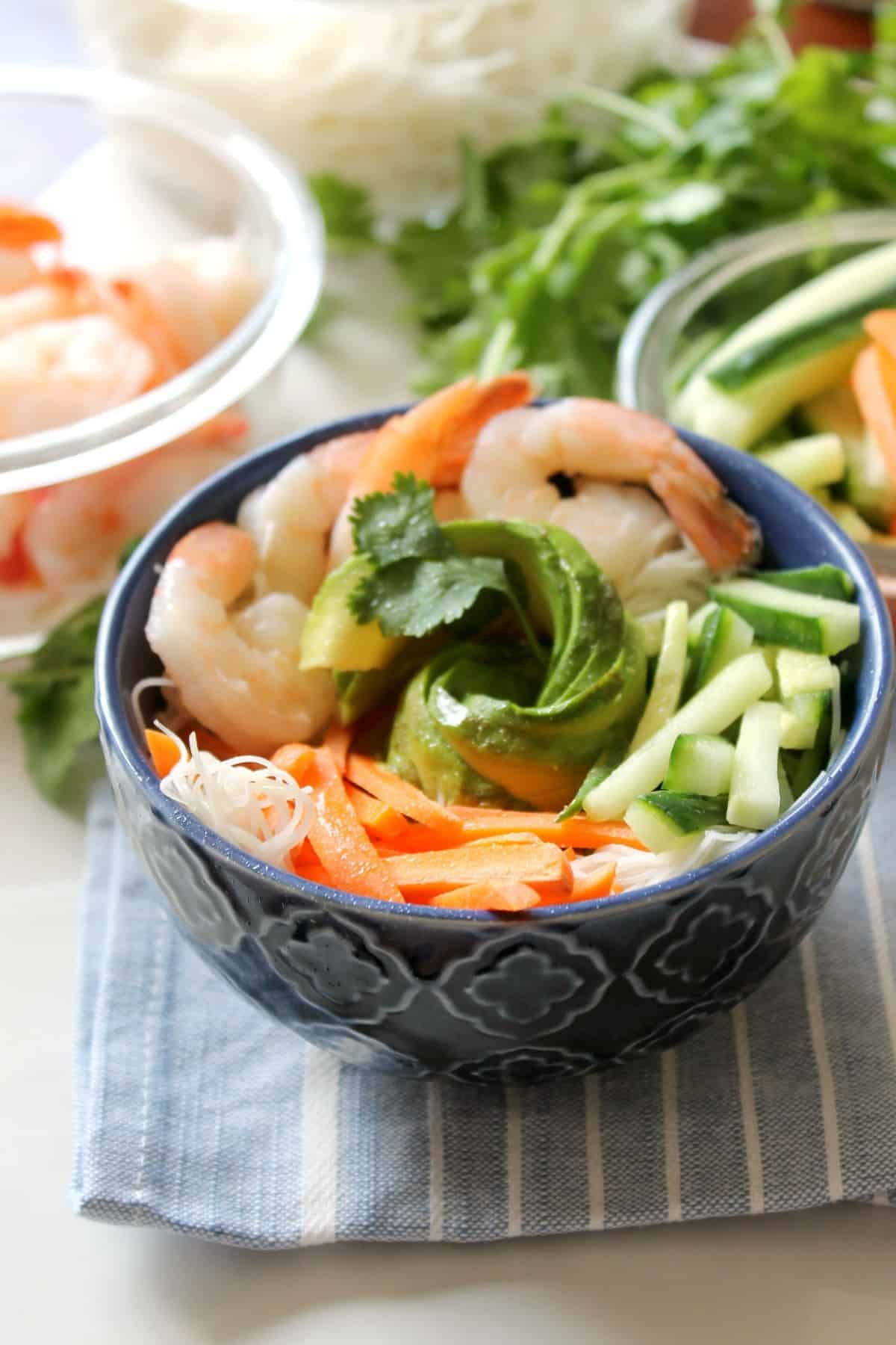Shrimp Summer Roll Bowls
