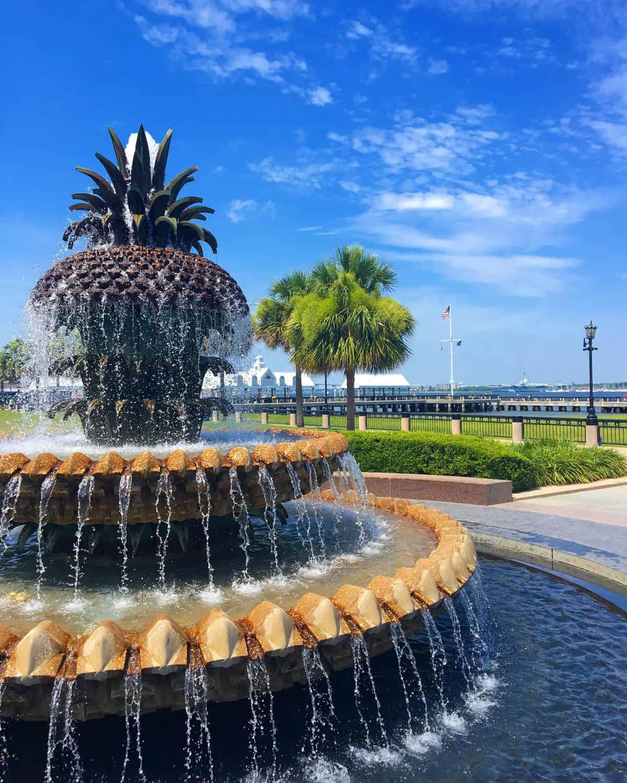 Charleston Pineapple Fountain