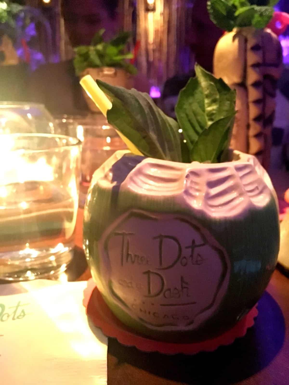 Tropical drinks from The Dote and Dash bar in Chicago