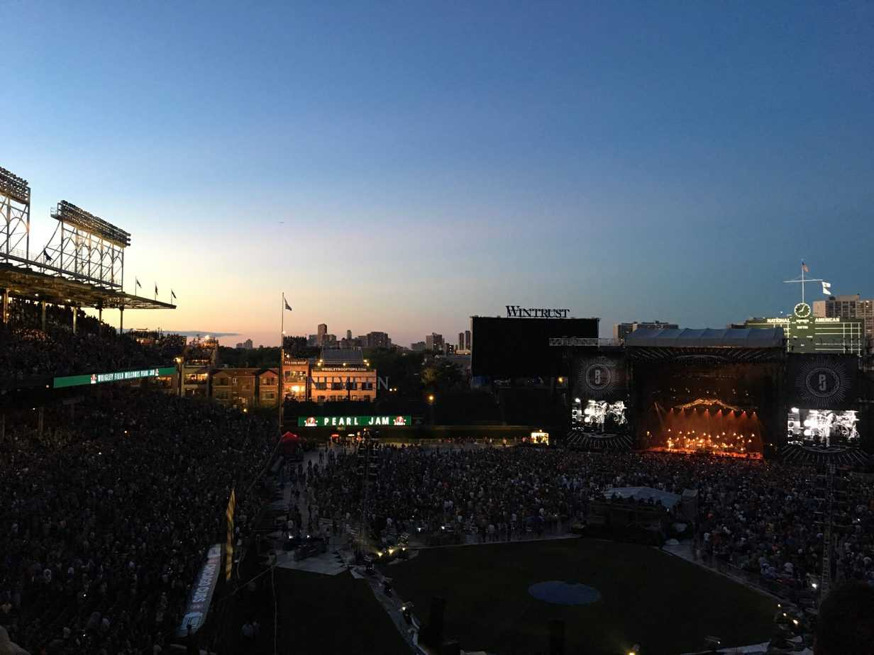 Wrigley Field in Chicago packed for the Pearl Jam concert