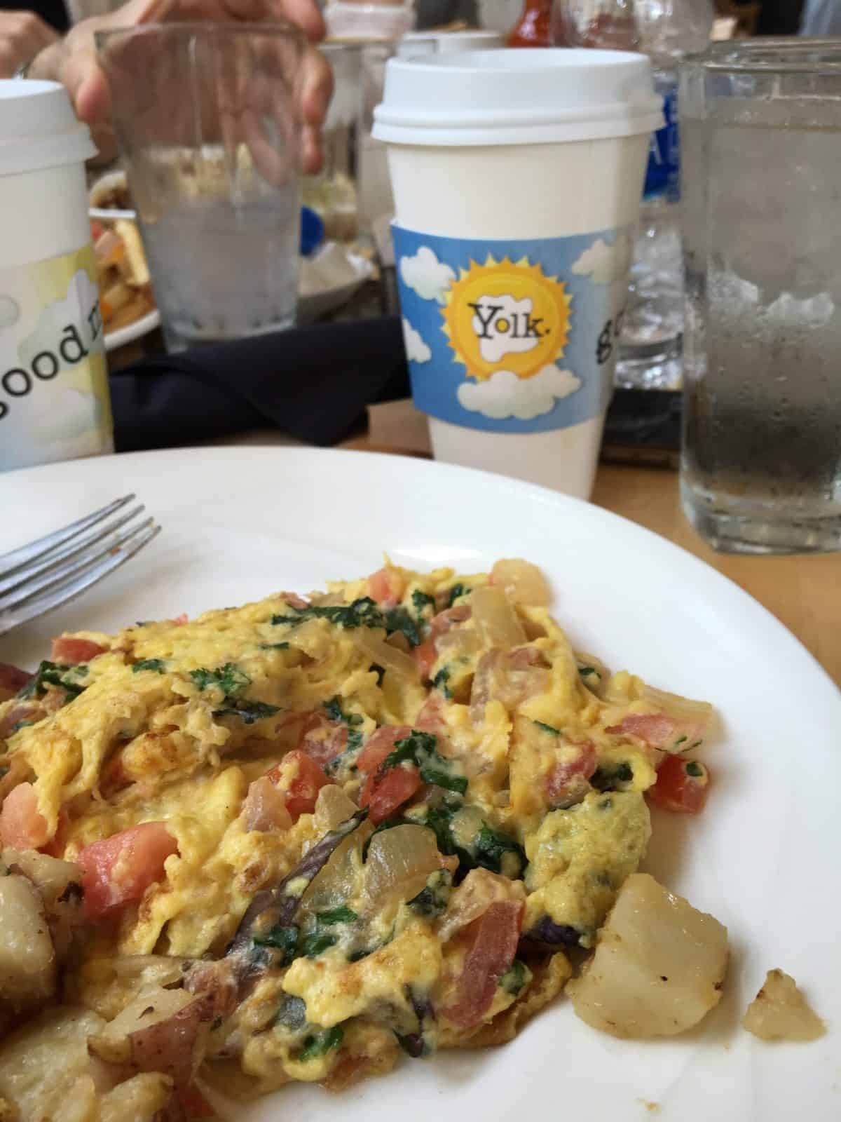 A delicious breakfast hash at Yolk in Chicago