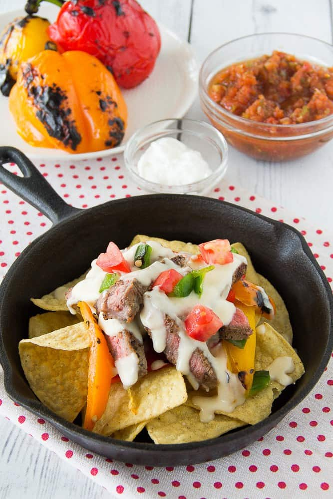 Grilled Fajita Steak Nachos