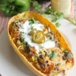 "Veggie Enchilada Bowls make a smart choice any day! Serve ""filling"" atop spaghetti squash, baked sweet potato, rice or quinoa for a filling, flavorful meal!"