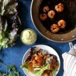Sweet & Spicy Shrimp Lettuce Wraps