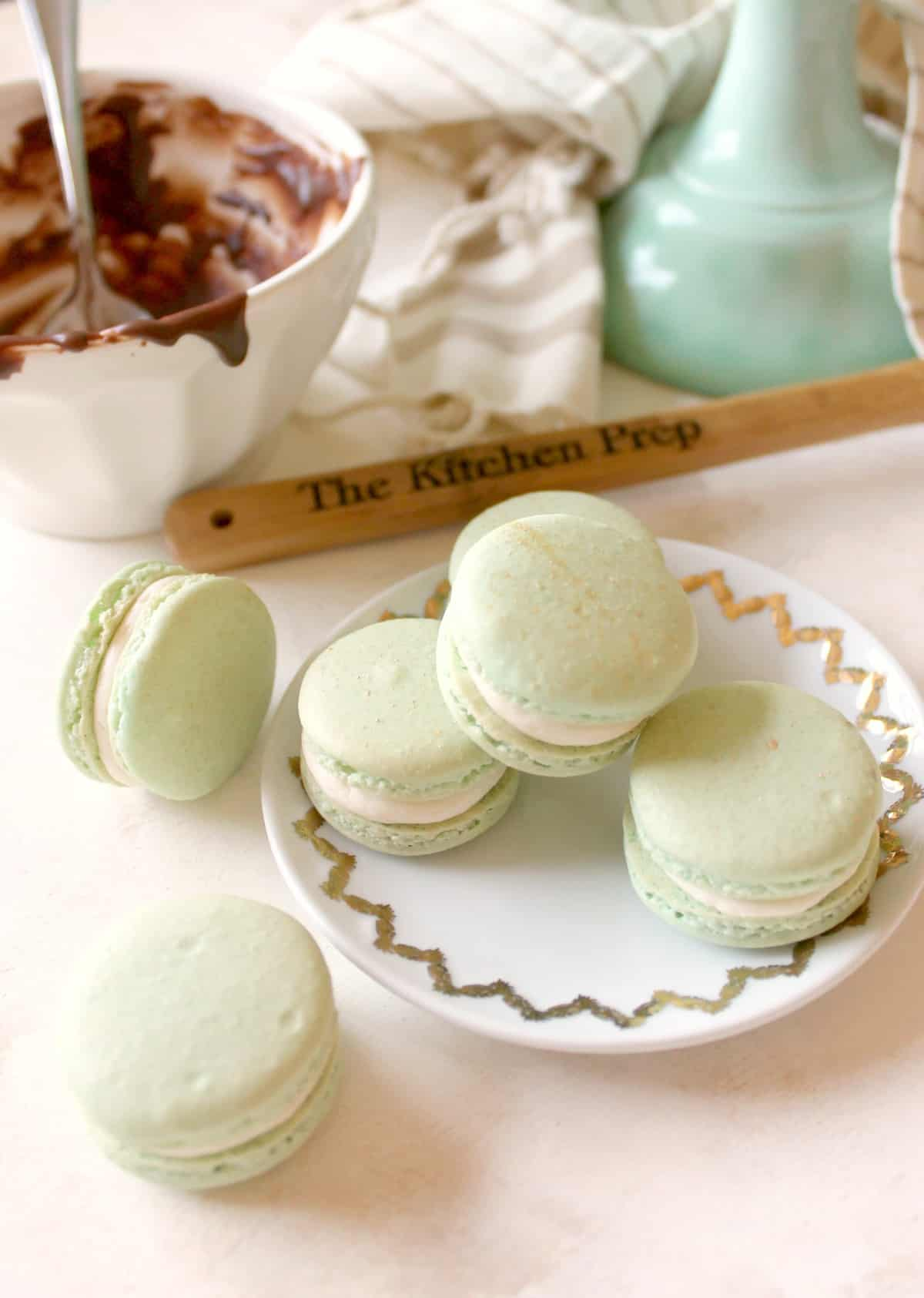 These delicious Irish Cream French Macarons are a fool-proof recipe for a sweet dessert