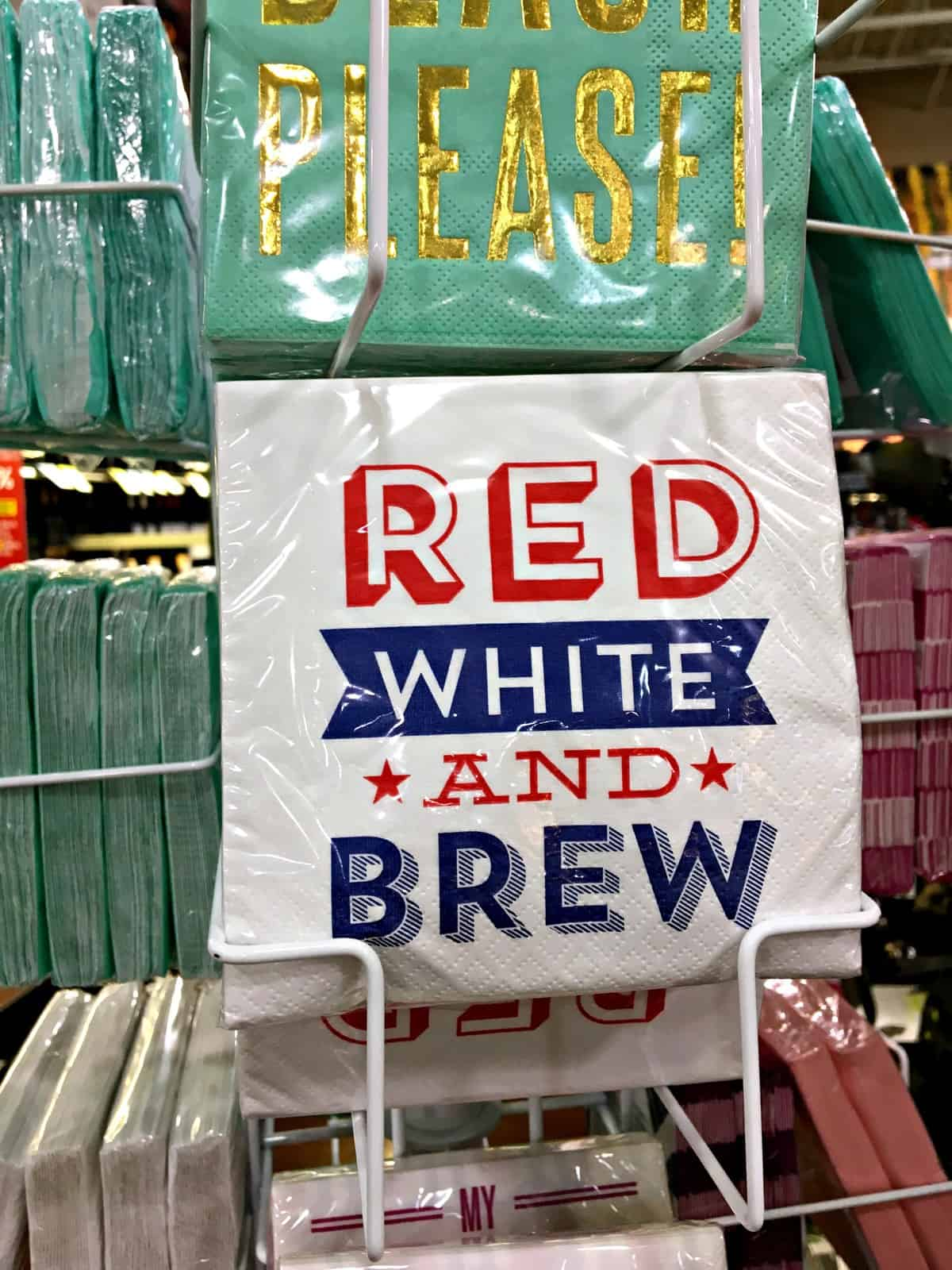 Pick up your 4th of July party napkins at Total Wine