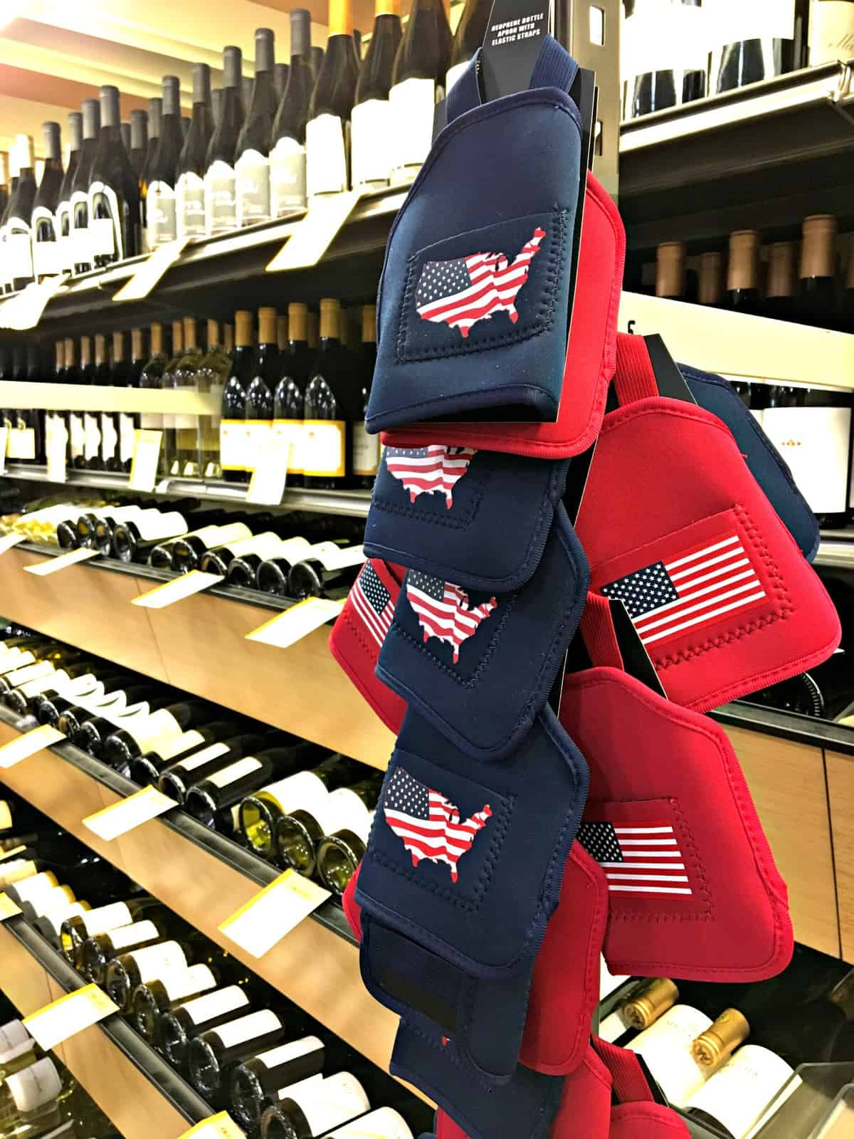 These 4th of july drink koozies from Total Wine are perfect for your summer party