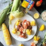 Shrimp Boil Kabobs with Old Bay Aioli