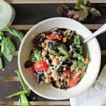 Farro & Mixed Greens Salad with Creamy Basil Parmesan Dressing