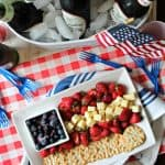 The most patriotic plate at your 4th of July block party is sure to be this Old Glory-inspired cheese plate! Beautiful enough to double as a centerpiece, but easy enough to arrange in minutes, it's a true example of summer's easygoing entertaining vibes!