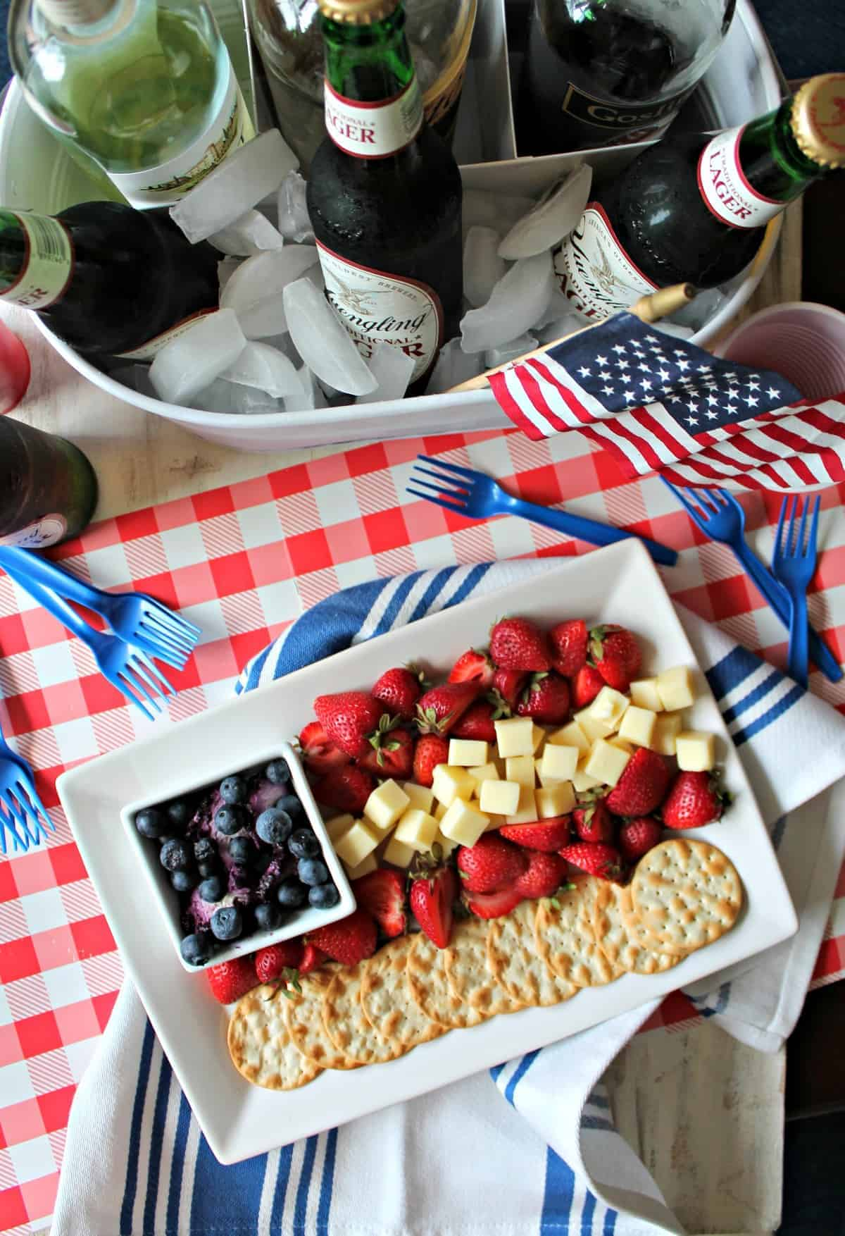 This 4th of July cheese plate is the perfect party appetizer for your favorite summer party